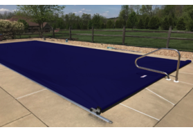 Pool Cover, Fits 16'10 x 46' Track Space - Royal Blue