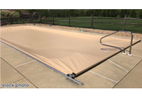 "Pool Cover, Fits 16'10""x 40' Track Space - Tan"