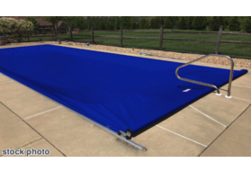 Pool Cover, Fits 14'x 30' Track Space - Royal Blue