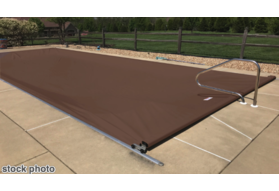 Pool Cover, Fits 16' x 36' Track Space - Mocha