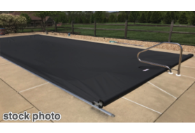 Pool Cover, Fits 20' X 36' Track Space - Charcoal