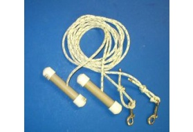 Roller Rope Pulling Handle Set - 10'