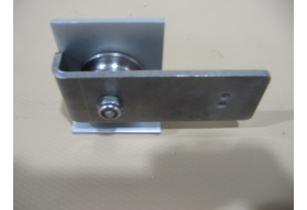 Screw Down Horizontal Flush Track Pulley - Left