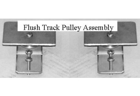 Flush Track End Cap Pulley Assembly