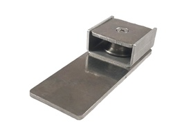 Vertical Flush Track End Cap Pulley Assembly-Gray